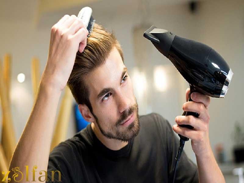 خشک کردن موهای مردانه