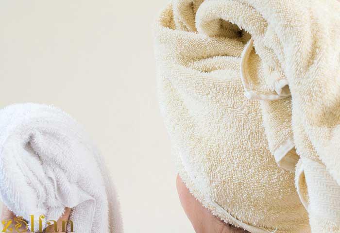 عدم استفاده از حوله برای خشک کردن موی سر
