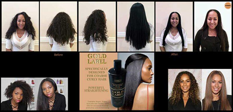 تاثیر کراتین گلد لیبل ریسرچ روی موهای مختلف